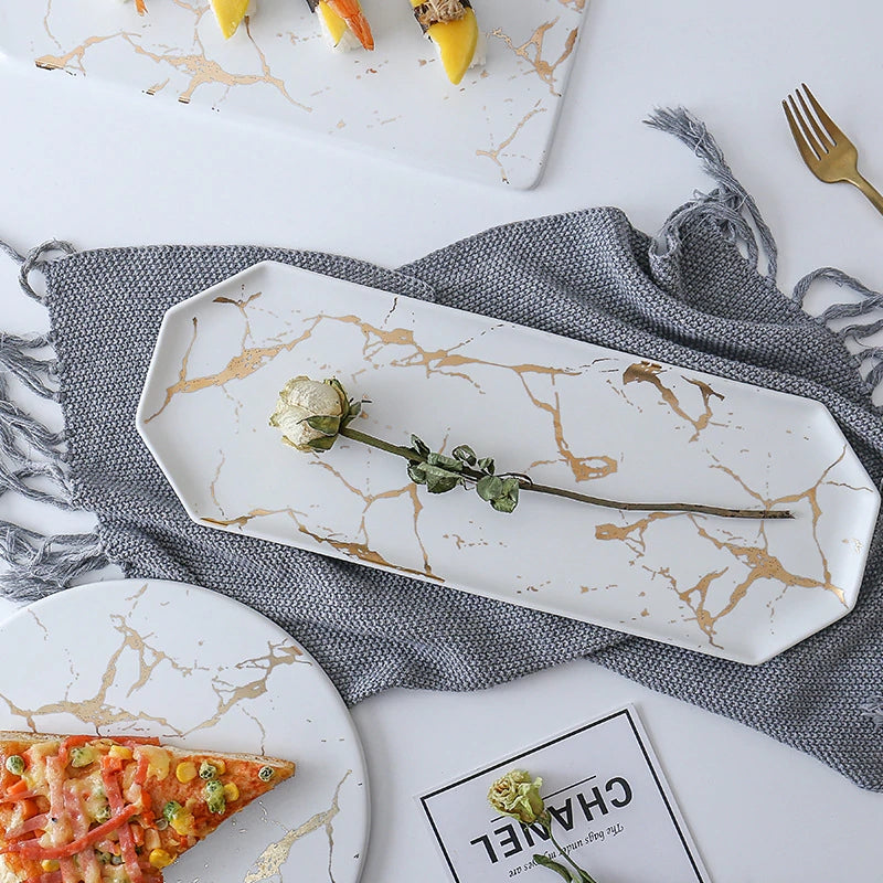 Creative Marbled Ceramic Tableware