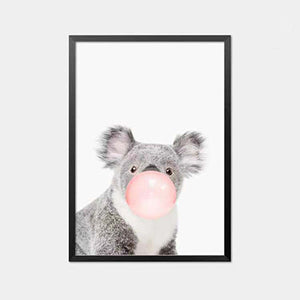 Animal Bubble Gum Art Living Room Decoration Painting