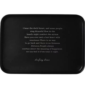 Black Knight Alphabet Metal Storage Tray