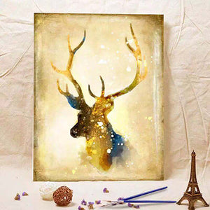 Christmas Gold Elk Art Living Room Decorative Painting