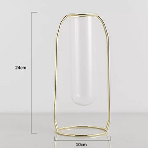 Nordic Wrought Iron Test Tube Vase Decoration