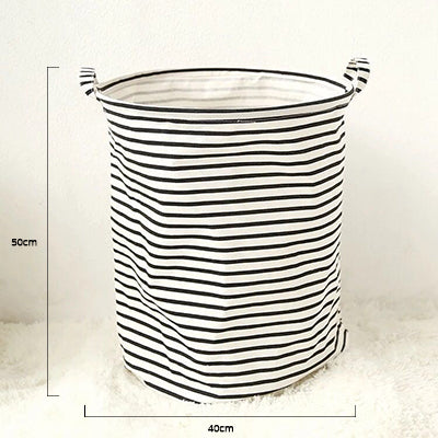 Nordic Style Cotton Linen Storage Bucket
