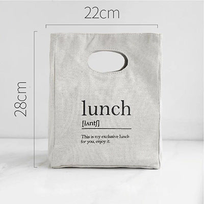 Nordic Style Letter Lunch Bag