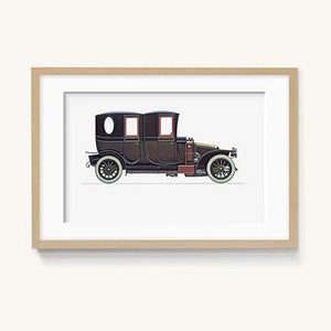 Vintage Classic Car Decorative Painting