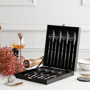 Titanium Black Dinner Set