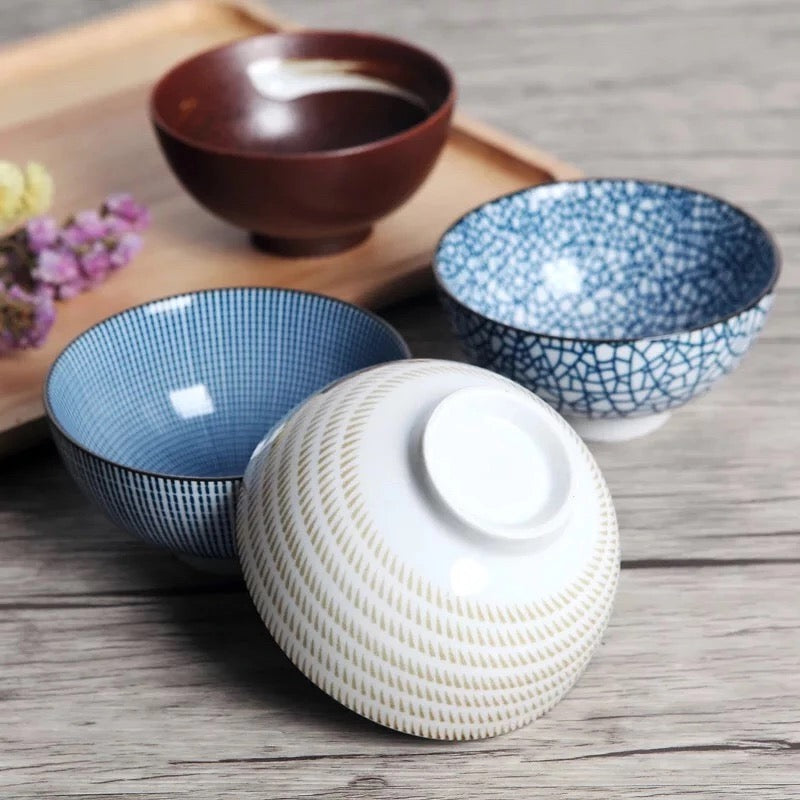 Traditional Japanese Bowl Set