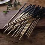 Luxury Black Gold Chopsticks 5PCS