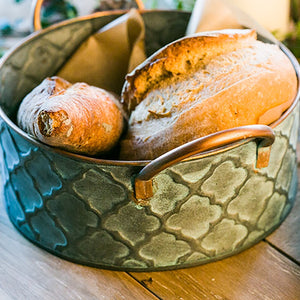 Retro Iron Art Bread Basket