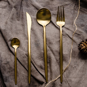 Titanium Gold Dinner Set