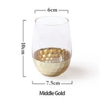 Creative Gold Foil Glass
