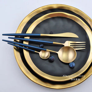 Blue Gold Dinner Set