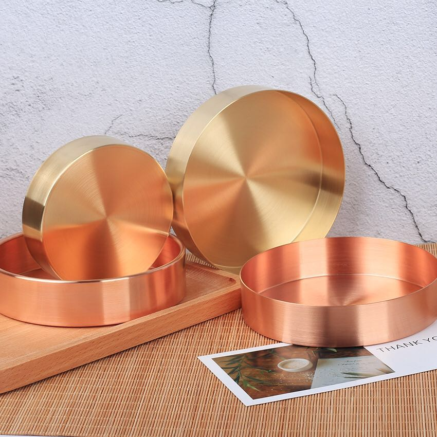Nordic Copper Circular Storage Tray