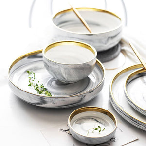 Luxury Marble Ceramic Tableware