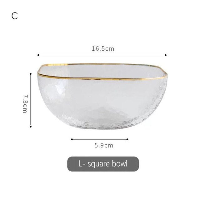 Luxury Salad Bowl Square Series