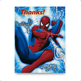 Spiderman Birthday Party Thank You Cards