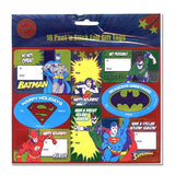 DC Comics 16 Peel 'N Stick Foil Holiday Gift Tags