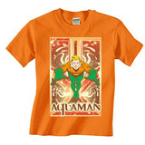 Aquaman Leaping Mens T-Shirt