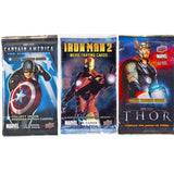 Marvel Movie Trading Card Packs (Thor, Iron Man 2, Captain America)