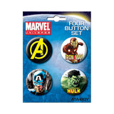 Avengers Portrait Button Set