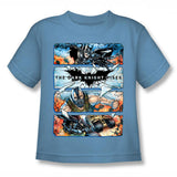 Batman Dark Knight Rises Shattered Glass Kids T-Shirt