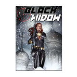 Black Widow Snow Magnet