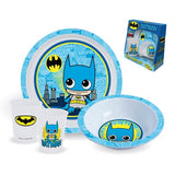 Batman Plate, Bowl And Cup 3-Piece Kids Set