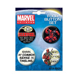 Deadpool Button Set