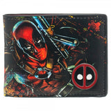 Deadpool Wallet With Metal Badge