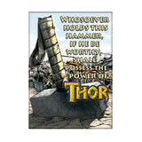Thor Hammer Inscription Magnet