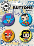 DC Toys Button Set