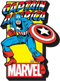 Captain America With Logo Chunky Magnet