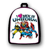 Marvel Heroes I Love Men In Uniform Mini Backpack