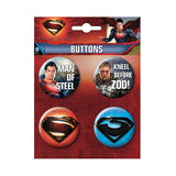 Superman Man Of Steel Button Set