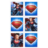 Superman Man Of Steel Party Stickers