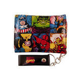 Marvel Heroes Collage Chain Wallet