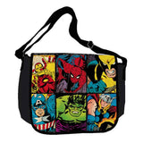 Marvel Heroes Grid Messenger Bag