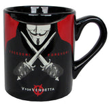 V For Vendetta Freedom Forever Mug
