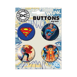 Superman Classic Button Set