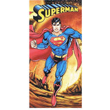 Superman Firey Planet Beach Towel