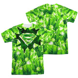 Superman Kryptonite Shield Sublimated Mens T-Shirt