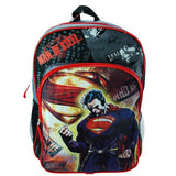 Superman Man Of Steel Gray/Black Backpack