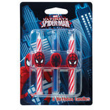 Spiderman Birthday Candles