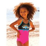 Supergirl Super Rainbow Girls One Piece Swimsuit