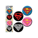 Superman Logo Button Set