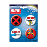 Wolverine Button Set