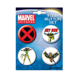 X-Men Button Set
