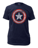 Captain America Distressed Shield Mens T-Shirt