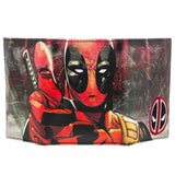 Deadpool Tri-Fold Wallet With Sewn-In Badge