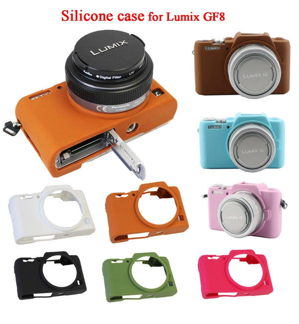 Nice Soft Silicone Camera Case for Panasonic Lumix DMC-GF8 GF7 Protective Rubber Body Cover Case Skin Camera case bag - zorrlla