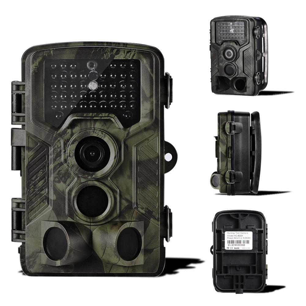 12MP 1080P Wildlife Trail Photo Trap Hunting Camera Outdoor Scouting Camera with PIR Sensor Infrared Night Vision Waterproof - zorrlla